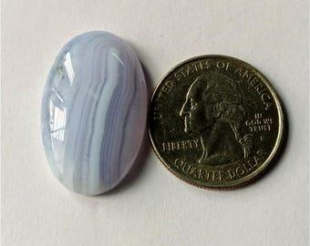 28.85 x 18.15 mm, ovel Shape Blue Lace Agate Cabochon/Attractive Blue Lace Agate/wire wrap stone//Pendant Cabochon/Semi Precious Gemstone