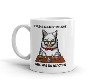Cat Chemistry Mug - Cation Mug - Chemistry Teacher Cup - Chemistry Coffee - Funny Cat Mug - Science Pun Mug - Cat Pun - Chemistry Pun