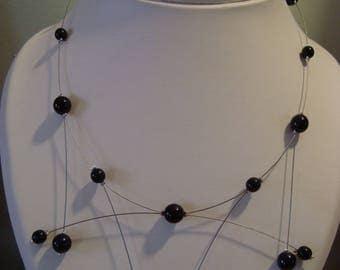 Necklace black beads