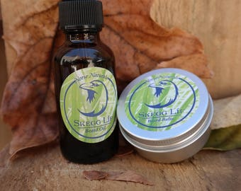 All Natural Beard oil and Beard Balm Set, Lagom, Great gift for him, Gifts for dad, 1oz