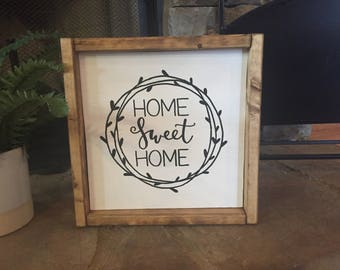 Home Sweet Home | Wood Sign | Rustic Wood Sign | Farmhouse Style | Home Decor