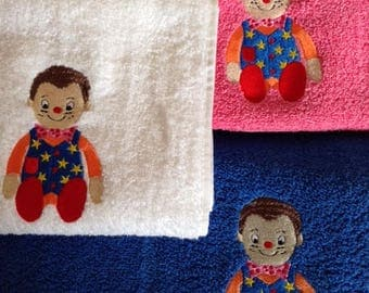 Mr Tumble Personalised Embroidered Towels Free Name