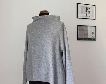Wool asymmetrical knit