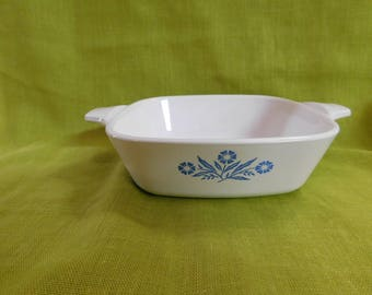 Corningware Blue Cornflower Petite Baking Dish P-41