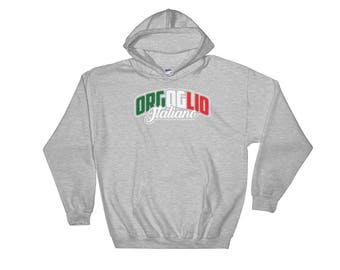 Orgoglio Italiano - Italian Pride Heritage Themed Unisex Hooded Sweatshirt
