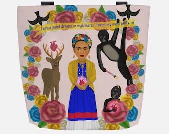 Nude Gray Frida Kahlo (Everyday Use) Tote Bag