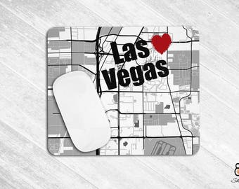 Mousepad, Las Vegas Mousepad, Las Vegas Gift, Las Vegas Map Office Mousepad, Desk Accessories, Mouse Pad Office, Rectangular Mousepad