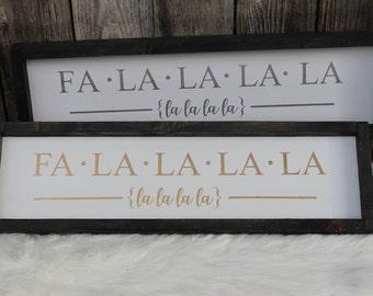 Fa La La and/or Merry Christmas ya filthy animal Wood Signs