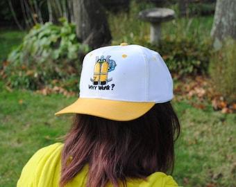 WHY WORK - SCUBA Divers Vintage Snapback Hat