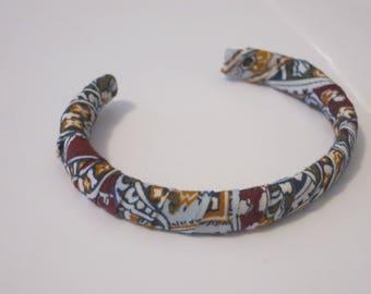 Bracelet jonc cachemire bordeaux