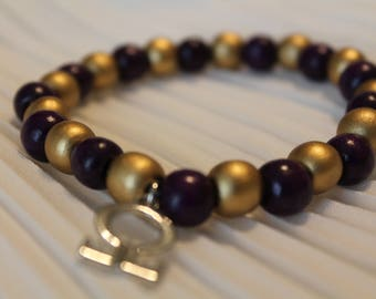 Omega Psi Phi Charm Bracelet