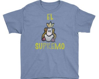 El Supremo Attitudes Distressed All Cotton Tee Youth Short Sleeve T-Shirt