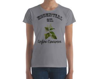 Essential Oil Ceylon Cinnamon Women's short sleeve t-shirt