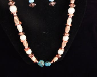 Copper Sunset necklace and earrings