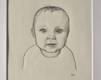 A5 Single Pen and Pencil Portrait