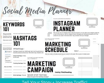 Social Media Planner, Content Planner, Social Media Content, Instagram Planner, Marketing Planner, Business Planner, Social Media Organizer