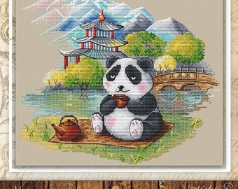 PDF Cross Stitch Pattern Cute Panda