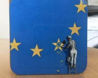 Banksy Coaster #6 - Banksy Gift - Banksy Coaster - Custom Coaster -Gift for Her - Gift For Him - Fridge Magnets - Banksy Magnet - Souvenir