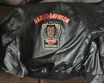 Harley Davidson Leather Jacket: 90th Anniversary