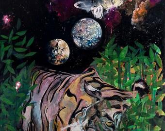 Tiger lurking under Pluto, Callisto and Dwarf Galaxy
