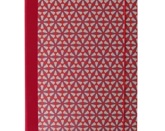 Binder A4-Ornament Red-Graublau