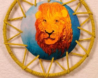 Lil Yellow Leather Leo dreamcatcher