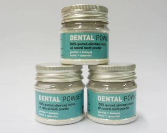 Spearmint Mastic Gentle Natural Tooth Powder, Bentonite Clay Toothpowder, Mastic Dry Toothpaste, Spearmint Dental Powder, Herbal Tooth Care,