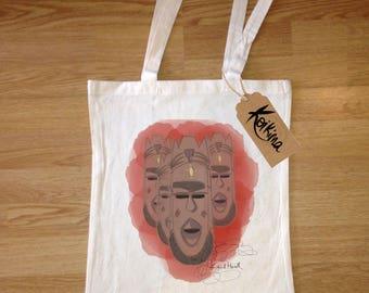 Masks fabric bag, tote bag Koikima Store, illustration, woman bag, man bag, cotton bag, natural, gift, tote bag, original