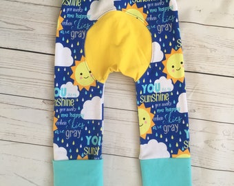 You Are My Sunshine Maxaloones, Grow with me pants, Blue