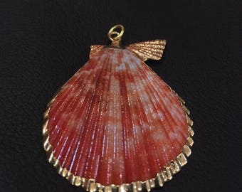 Gold etched Seashell