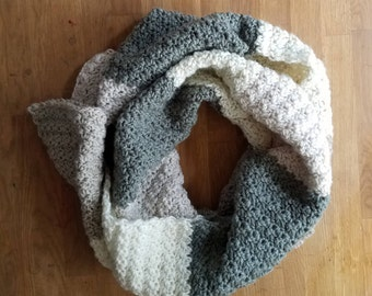 Crochet color block Super Scarf