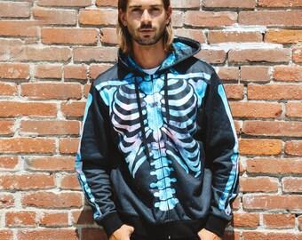 Adult Cosmic Skeleton Hoodie