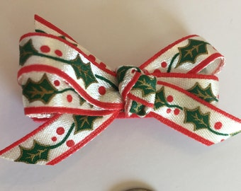 Holly Berry Bow - 2 Inches
