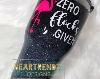 Zero Flocks Given Ombre Glitter Dipped Stainless Steel cup
