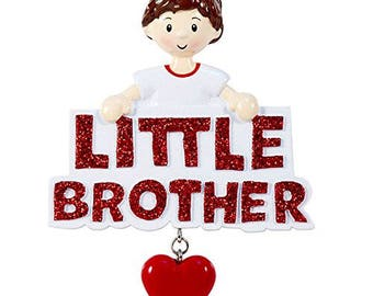 Little Brother Personalized Christmas Tree Ornament