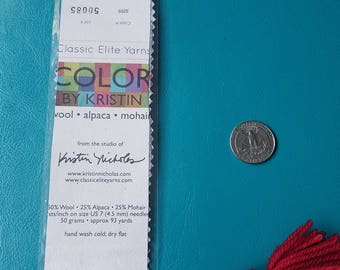 Laminated Yarn Label Laminated Bookmark Color by Kristin