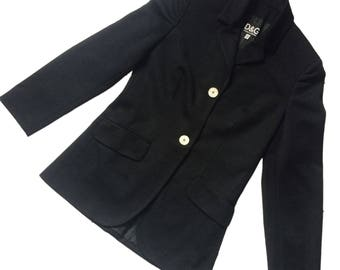D&G Dolce and Gabbana black blazer
