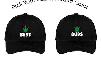 Best Buds Dad Cap, Best Buds Dad Hat, Dad Cap, Dad Hat, Funny Hat, Cap, Hat, Weed Hat, Marijuana Hat, 420, Cap Daddy
