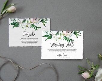 Greenery Wedding, Wishing Well, Details, Wedding Template, Natural Wedding, Neutral Wedding, DIY Wedding, Editable Template