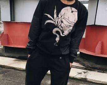 Sweatshirt for women Womens clothing Sweatshirt for her Cotton sweatshirt Womens sweatshirt Sweater for women Black sweatshirt