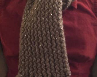 Sparkly 2-Sided wool blend Scarf.