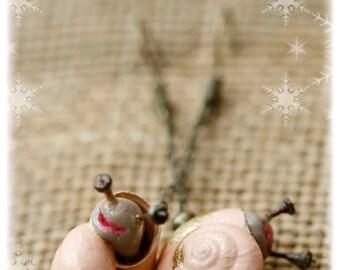 Tiny & Cortex - snail earrings