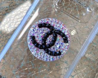 Swarovski AB & Black Crystal PopSocket