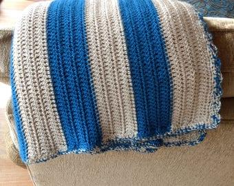 Simple Coastal Stripe Throw Blanket