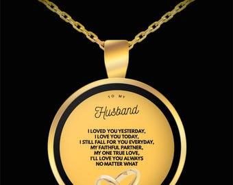 TO MY HUSBAND! Amazing Gold Plated Necklace!
