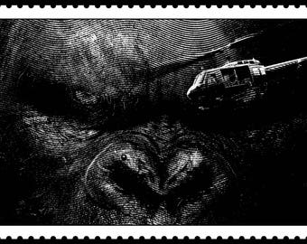 Damn! Super Cool KONG Signed & Numbered Limited Edition Print! KING KONG of Skull Island Collectible! Universal Studios!