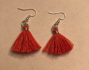 Coral Tassel earrings-small