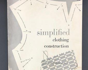 Simplified Clothing Construction Vintage Booklet - (SW081ET)