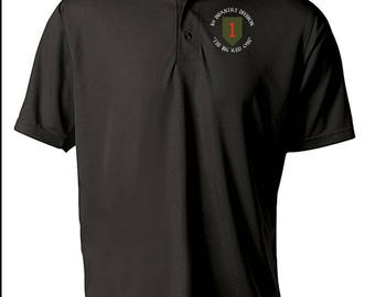 1st Infantry Division Embroidered Moisture Wick Polo Shirt -3968