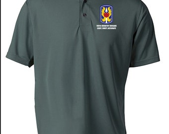 199th Light Infantry Brigade Embroidered Moisture Wick Polo Shirt -8607